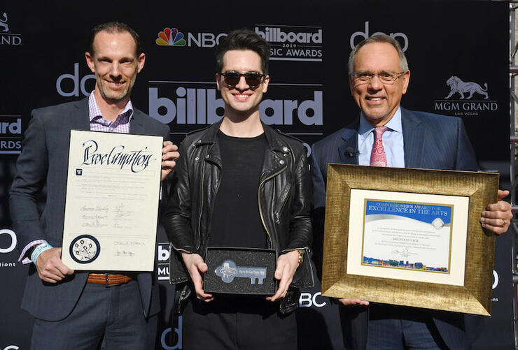 2019 Billboard Music Awards Las Vegas Proclamation With Brendon Urie