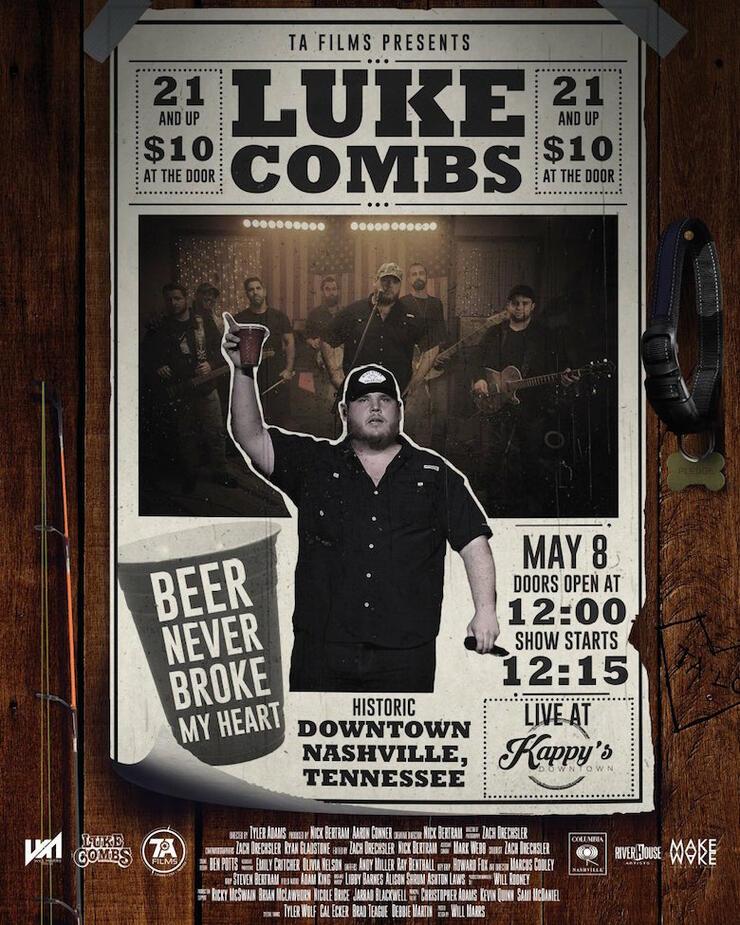 "Luke Combs Beer Never Broke My Heart: Luke Combs Shares New Song ""Beer Never Broke My Heart"