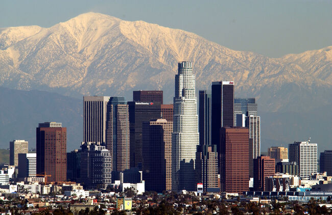 Storm Leaves Snowy Backdrop for Los Angeles