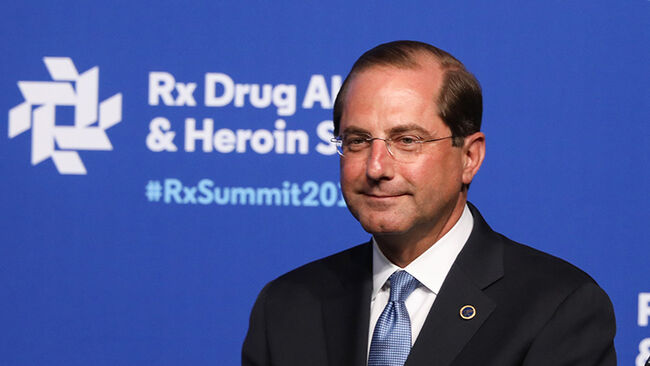 Alex Azar, Secretary of Health and Human Services attends the Rx Drug Abuse & Heroin Summit