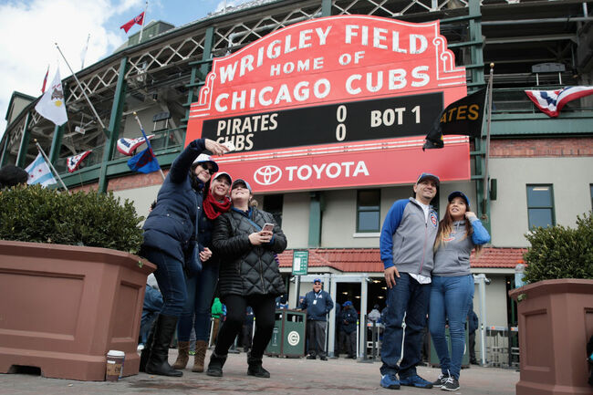 Chicago Cubs Fans Come Out For Snow-Delayed Home Opener