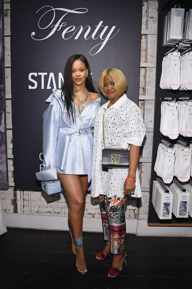 Rihanna Makes Appearance At Stance For Clara Lionel Foundation