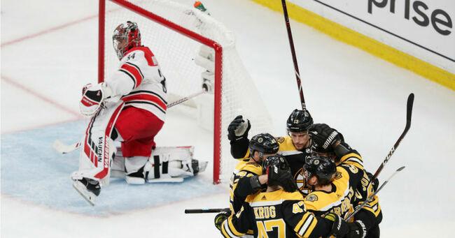 Carolina Hurricanes v Boston Bruins - Game One (Adam Glanzman/Getty Images)