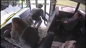 Trending - School Bus Driver's Quick Reflexes Save Student's Life