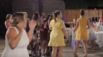 Allison - WATCH: Wedding Guest Gets Nailed in Head with Bouquet