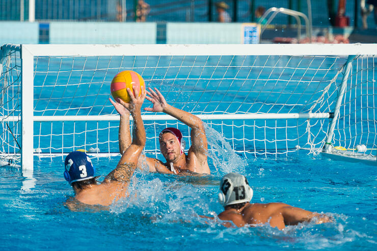Water Polo Scoring Action