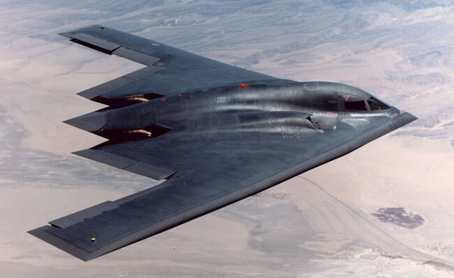 B-2 Flies Over Edwards Air Force Base