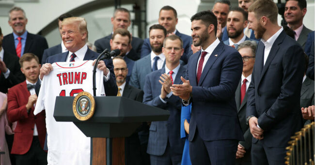 President Trump Welcomes World Series Champion Boston Red Sox To White House (Alex Wong/Getty Images)