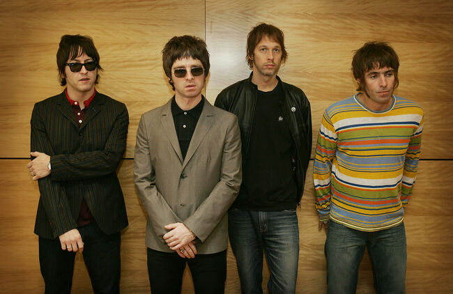 From L-R Gem, Noel Gallagher, Andy Bell