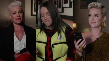 image for Billie Eilish, Katy Perry, Pink & More Read Hilarious Texts From Their Moms