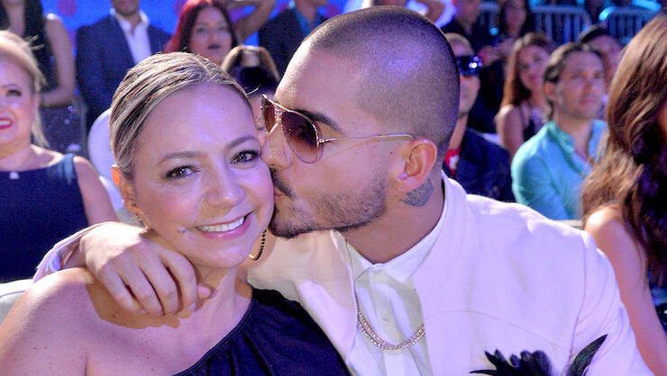 Maluma's 'Passionate' Kiss With His Mother Draws Mixed Reactions From Fans | iHeartRadio