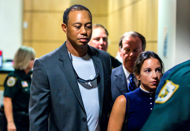 Tiger Woods at Courthouse