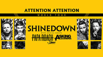 None - Shinedown ATTENTION ATTENTION World Tour Roanoke