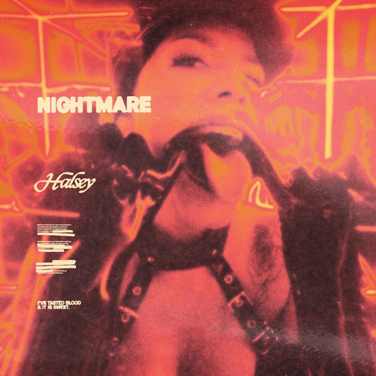 "Halsey - ""Nightmare"" Single Cover Art"