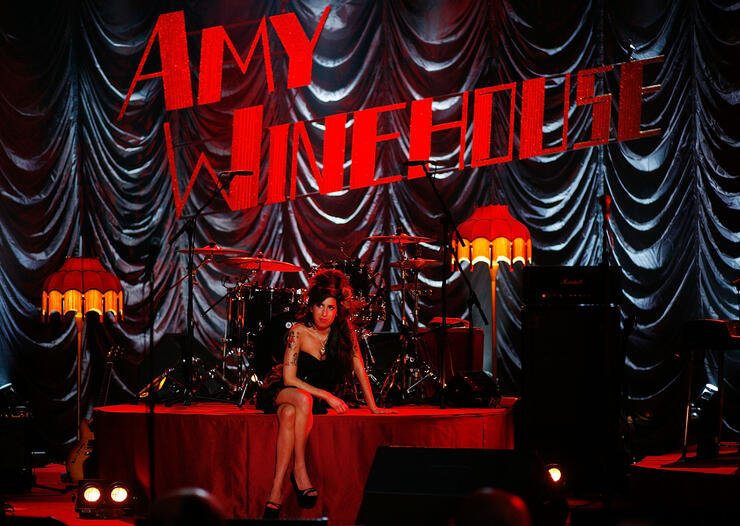 Amy Winehouse Performs For Grammy's Via Video Link