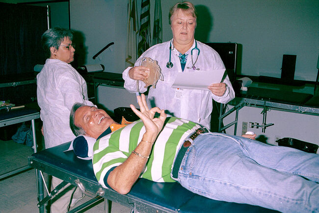 Pat Boone Blood Donation