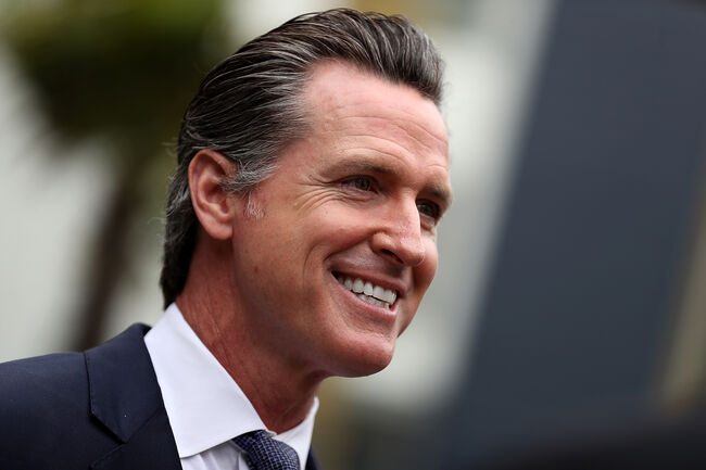 California Gubernatorial Candidate Gavin Newsom Tours Low-Income Apartment Complex With SF Mayor London Breed