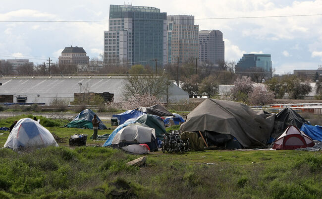 Sacramento Tent City Fills Up With The Newly Jobless And Homeless