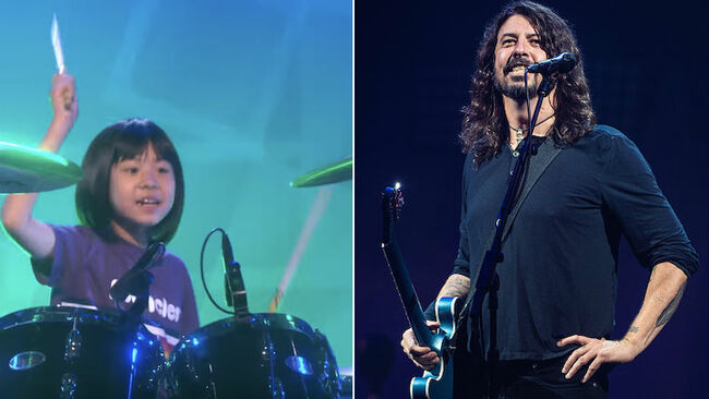 Dave Grohl Sends Sweet Message To 9-Year-Old Drummer Prodigy: Watch