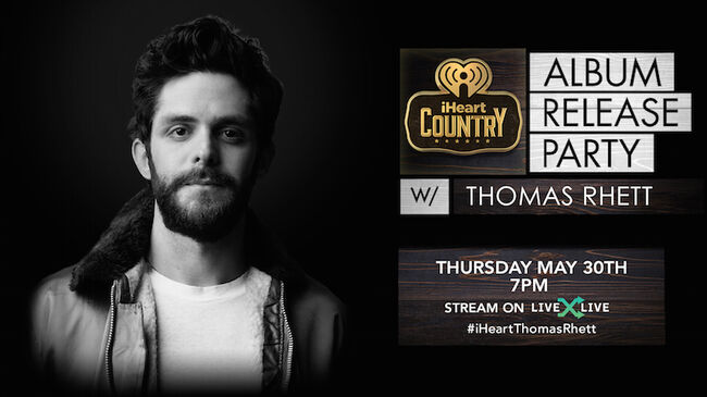 Thomas Rhett to Celebrate 'Center Point Road' with Album Release Party
