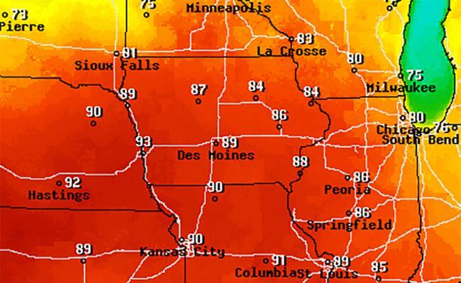 Record temps possible with heat wave today NEBRASKA IOWA ILLINOIS