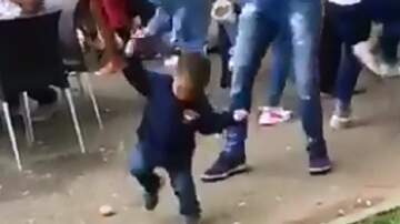 Patrick Sanders - Watch Adorable 2 Yr Old Get Turnt Up At His Aunt's Outdoor College Party