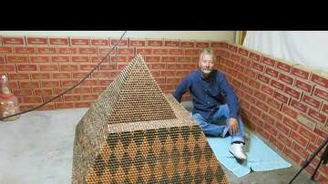 Frank Bell - 5,000 LB Pyramid Made of Pennies
