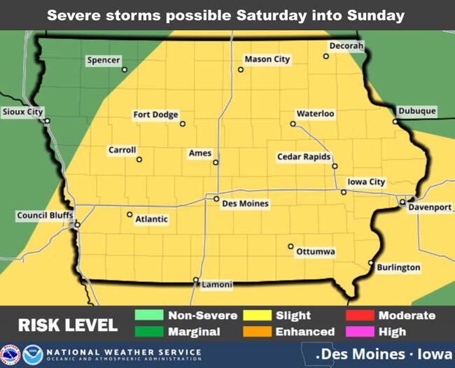 Severe storms, Flash Flooding risk Nebraska and Iowa STORM & RAIN MAPS