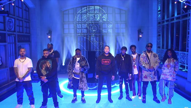 DJ Khaled Brings Out John Legend, Meek Mill, SZA & More For 'SNL' Finale