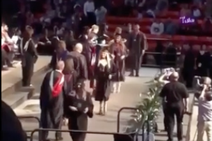 Johnjay And Rich - Guy Attempts Backflip At Graduation