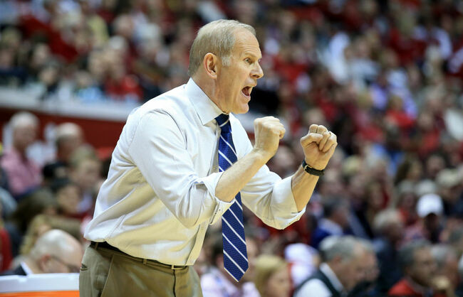 Getty - John Beilein giving directions during the Michigan v Indiana game.