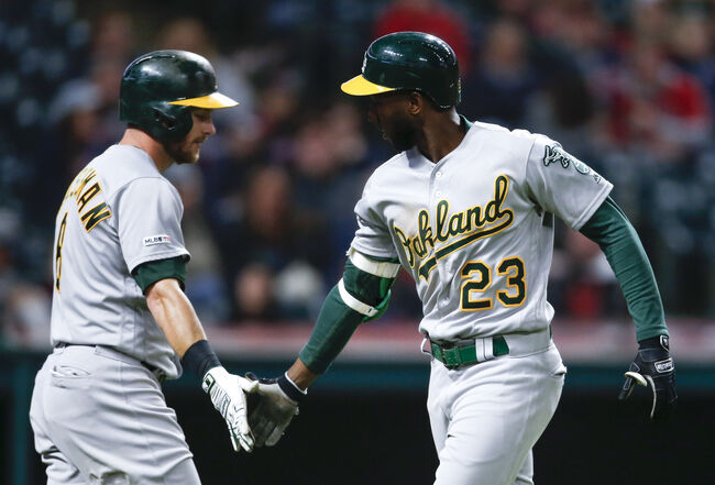 A's Take Advantage of Wild Bauer, Beat Indians 5-3