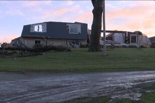 Unconfirmed tornado kills one, hurts another near Adair overnight