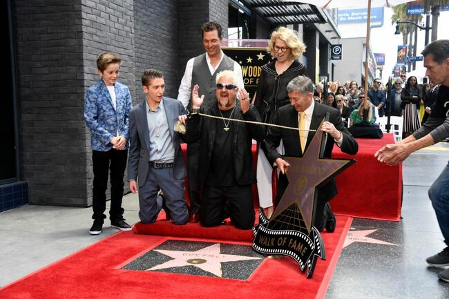 Guy Fieri Receives Star on Hollywood Walk of Fame