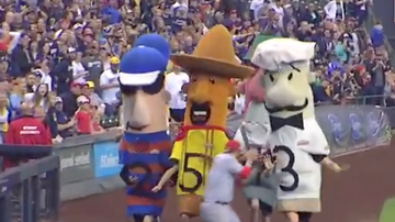 Lance McAlister - Reds: Eugenio Suarez causes controversy during Miller Park Sausage Race