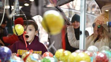 Crystal Rosas - 3-year-old Gets Himself Stuck Inside Arcade Claw Machine