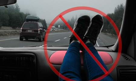 Corey & Patrick In The Morning - A friendly reminder to keep your feet off the dashboard in vehicles.