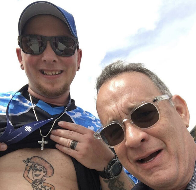 Tom Hanks Shares Hilarious Selfie With 'Toy Story' Fan