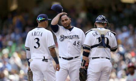 Brewers - Phillies slug four home runs, defeat Brewers 7-2 Saturday