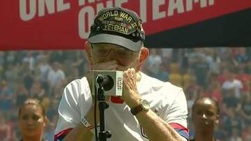 Jeff McCartney - 96 Year Old Vet Goes Viral After Performing National Anthem!