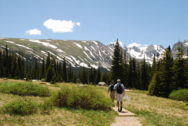 Two Men Hiking in Colorado