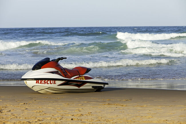 Rescue Wetbike on the beach
