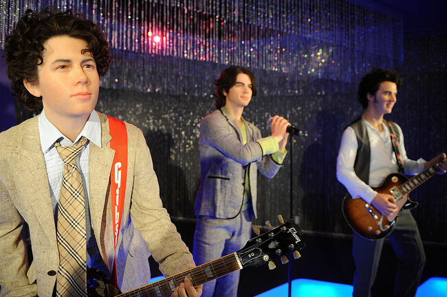 Nick, Joe and Kevin (L to R), the Jonas