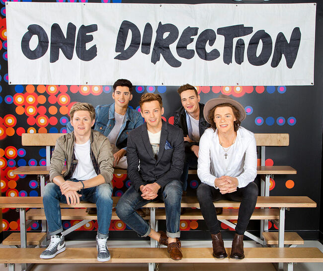 Wax Figures Of One Direction Displayed At Madame Tussauds Orlando