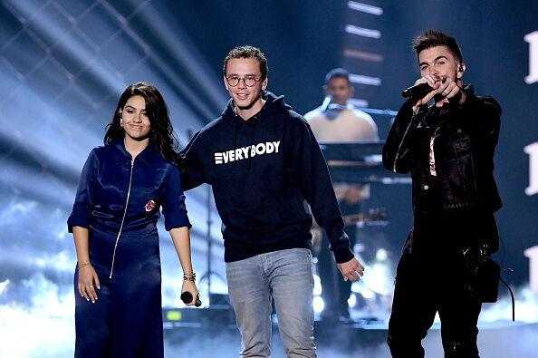 Left to Right: Alessia Cara, Logic, Juanes
