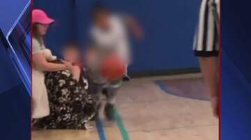 Qui West - Youth Basketball Player Tripped By Parent Sitting Courtside!
