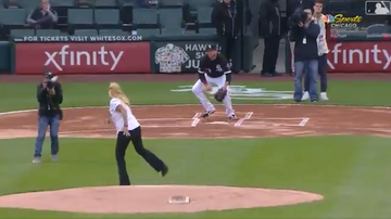 Sports Top Stories - Watch the Worst Ceremonial First Pitch in History