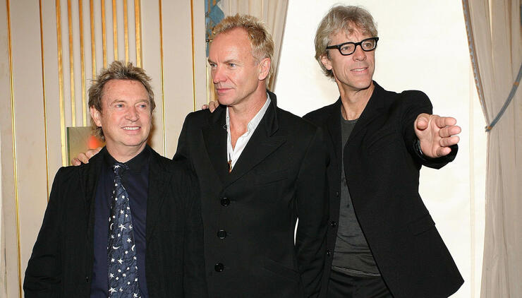 British Band The Police Inducted Into The Order of Arts and Letters