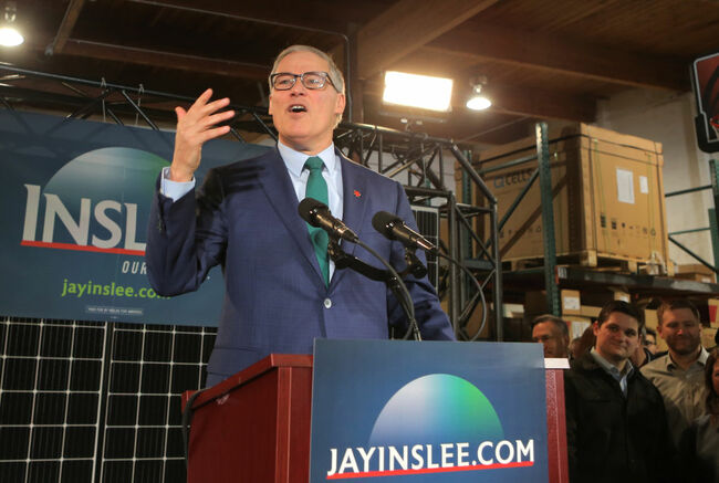 Democratic Washington Gov. Jay Inslee Announces Run For The Presidency