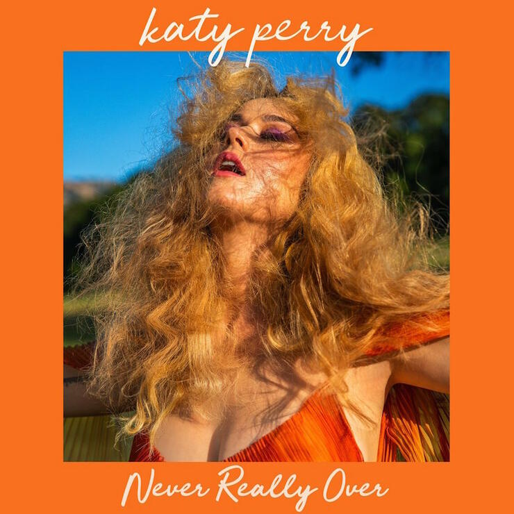 "Katy Perry ""Never Really Over"" Single Cover Art"